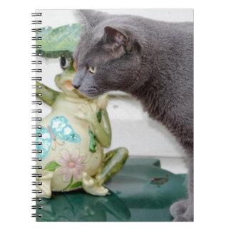 Herr grått katten anteckningsbok