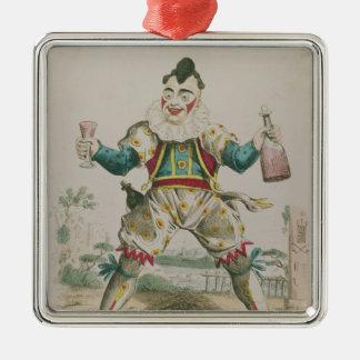 Herr Grimaldi som clown Julgransprydnad Metall
