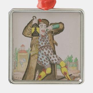 Herr Grimaldi som clown, upplysande Julgransprydnad Metall
