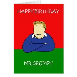 Herr Grumpy grattis på födelsedagen Hälsningskort