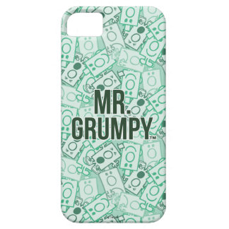 Herr Grumpy | grönt namn och teckenduggmönster iPhone 5 Case-Mate Fodraler