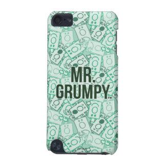 Herr Grumpy | grönt namn och teckenduggmönster iPod Touch 5G Fodral