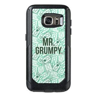 Herr Grumpy | grönt namn och teckenduggmönster OtterBox Samsung Galaxy S7 Skal