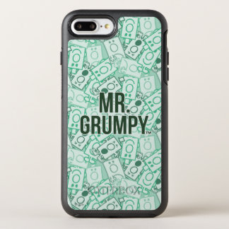 Herr Grumpy | grönt namn och teckenduggmönster OtterBox Symmetry iPhone 7 Plus Skal