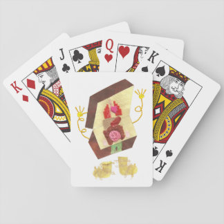 Herr insida - bemanna ut att leka kort spelkort