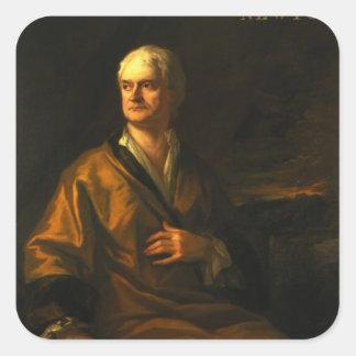 Herr Isaac Newton, 1710 Fyrkantigt Klistermärke