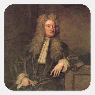 Herr Isaac Newton Fyrkantigt Klistermärke