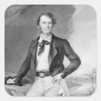 Herr James Brooke Rajah av Sarawak, 1847 Fyrkantigt Klistermärke