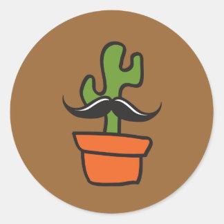 Herr kaktus runt klistermärke