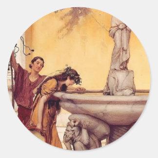Herr Lawrence Alma-Tadema: Mellan Venus och Runt Klistermärke