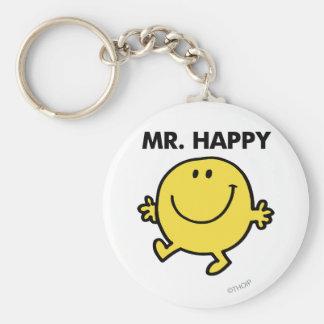Herr lycklig | som dansar & ler rund nyckelring