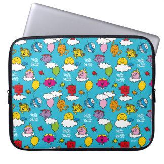 Herr manar & lite Fröcken | fåglar & ballonger i Laptop Sleeve