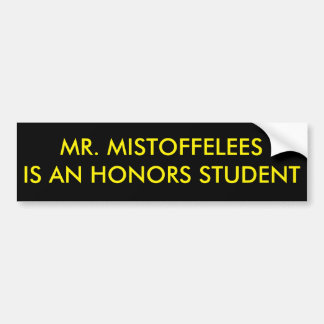 Herr Mistoffelees är en hederstudent Bildekal