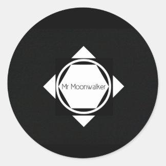 Herr Moonwalker glansig klistermärke