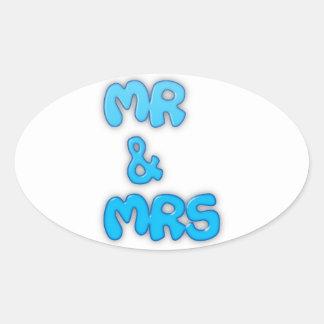 Herr och Fru Ovalt Klistermärke