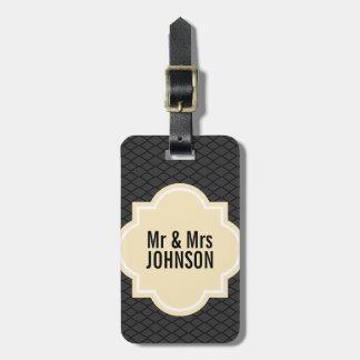 Herr och Fru reser bagagemärkren för att gifta sig Bagagebricka