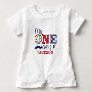 Herr ONEderful babyRomper - första födelsedagdräkt T Shirt
