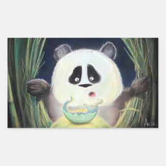 Herr Panda och lite en drake Rektangulärt Klistermärke