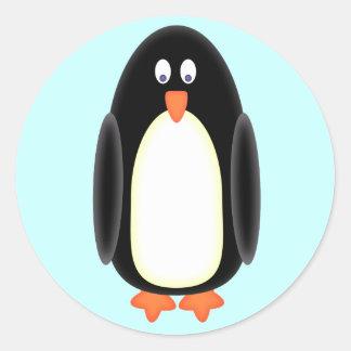 Herr pingvin runt klistermärke