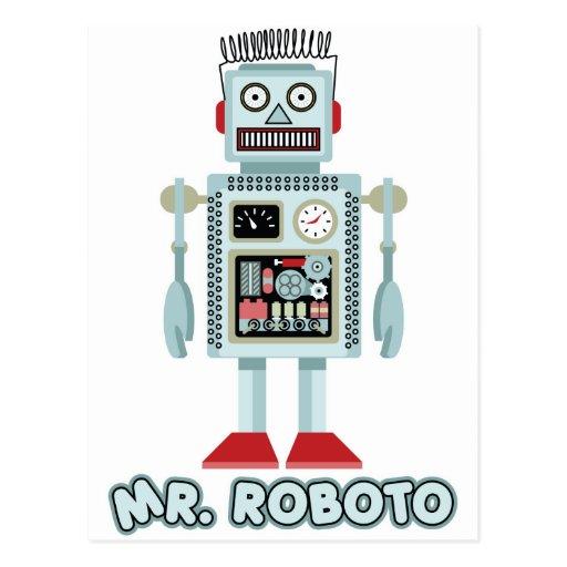 Herr Roboto Vykort