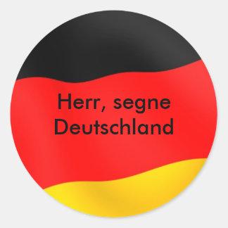 Herr segne Deutschland. Runt Klistermärke