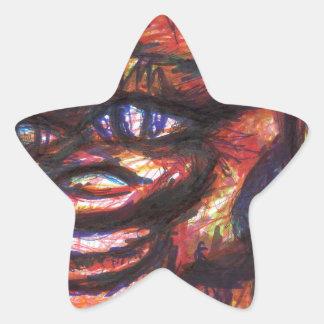 Herr Smilyborg Stjärnformat Klistermärke