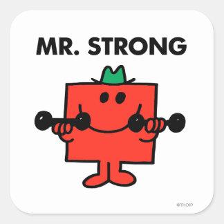 Herr stark | som lyfter, väger fyrkantigt klistermärke