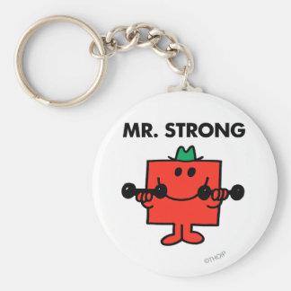 Herr stark | som lyfter, väger rund nyckelring