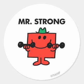Herr stark | som lyfter, väger runt klistermärke