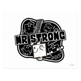 Herr stark | svart & vit vykort