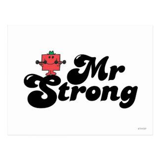Herr stark | väger & bubblar bokstäver vykort