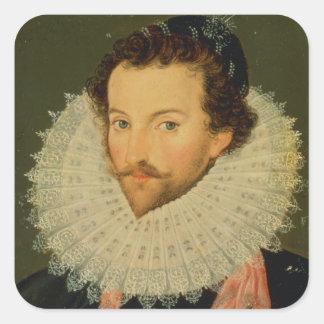 Herr Walter Raleigh 2 Fyrkantigt Klistermärke