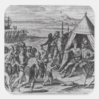 Herr Walter Raleigh Fyrkantigt Klistermärke
