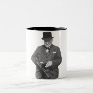 Herr Winston Churchill Två-Tonad Mugg