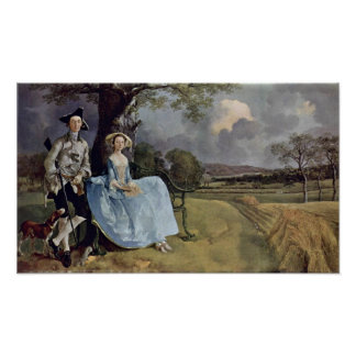 Herrskap Andrews av Thomas Gainsborough Poster