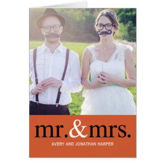 HERRSKAP som gifta sig tackfotokortet
