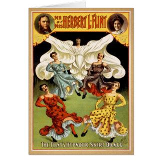 HerrskapHerbert L. Flinta vintage affisch 1895 Hälsningskort