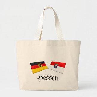 Hessen Tysklandflagga belägger med tegel Tygkasse