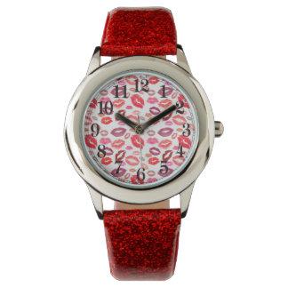 Hettkyssmönster Armbandsur