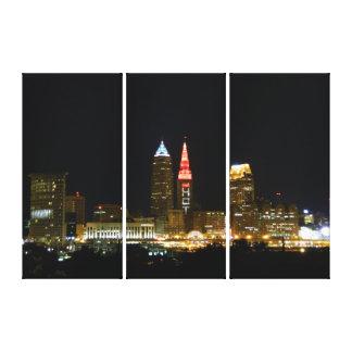 (Hetttornljus) den Cleveland, OH kanvastrycket Canvastryck