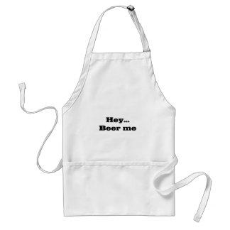HEY… broderade ÖL MIG skjortan Förkläde