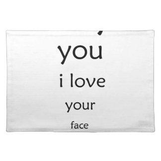 hey dig älskar jag ditt ansikte bordstablett