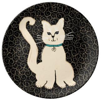 Hey pläterar dekorativ nätt kattunge - Julie Porslinstallrik