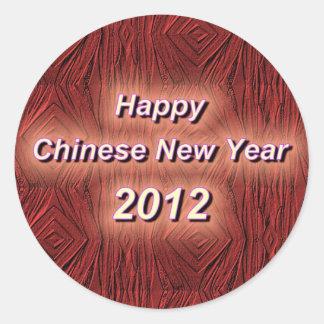Hfappy kinesiskt nytt år runt klistermärke