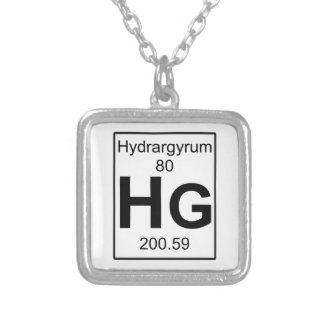 Hg - Hydrargyrum Halsband Med Fyrkantigt Hängsmycke