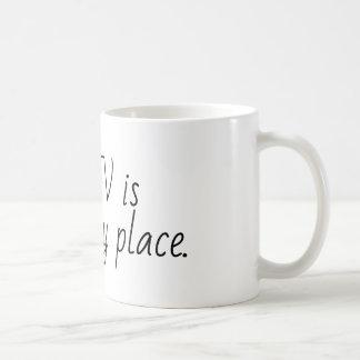 hgtv är mitt lyckliga ställe kaffemugg