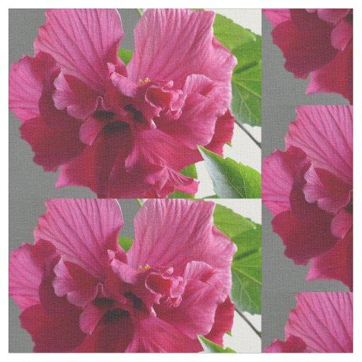 Hibiscus fabric tyg