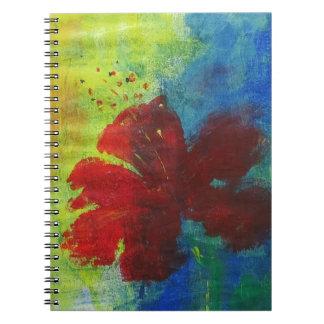hibiskus anteckningsbok