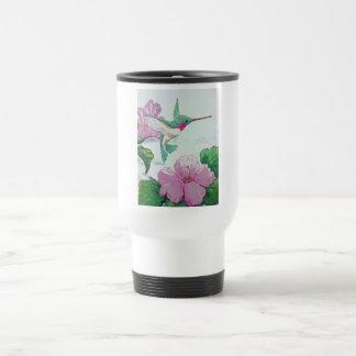 Hibiskus för blomma för rosor för surrfågelvild resemugg