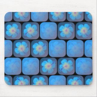 Hibiskus i blåttgel mus mattor